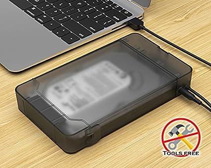 84250339ecaa Maiwo 2.5 Inch Hard Drive Case SATA External Hard Drive Enclosure  Transparent Case USB3.0 High Speed HDD/SSD Adapter Case for 9.5mm 7mm  Sandisk (2.5 ...