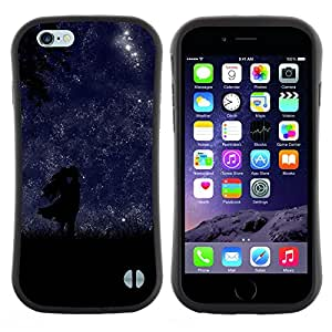 """Hypernova Slim Fit Dual Barniz Protector Caso Case Funda Para Apple (5.5 inches!!!) iPhone 6 Plus / 6S Plus ( 5.5 ) [Noche Estrellas amor de los amantes de sol romántica""""]"""