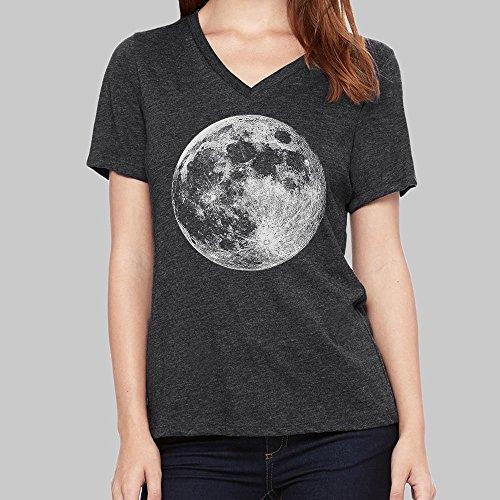 Women's V Neck Tshirt Full Moon VNeck T-shirt Bella Tri Blend 4 Colors ()