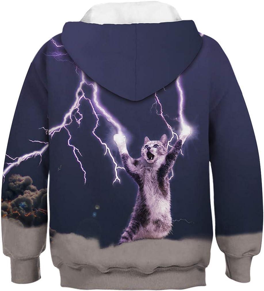 Imbry Boys Girls 3D Printed Cool Galaxy Hoodie Kids Hooded Pullover Sweatshirt