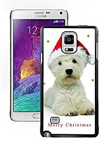 Personalized Christmas Dog Black Samsung Galaxy Note 4 Case 2