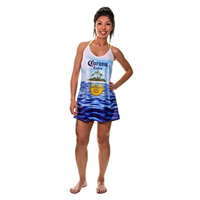 Corona Extra Ladies Summer Can Beach Dress Cover Up at Women's Clothing store