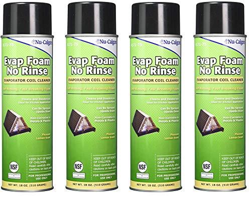 - Nu-Calgon 4171-75 Evap Foam No Rinse Evaporator Coil Cleaner, 18 oz. (4-Pack)