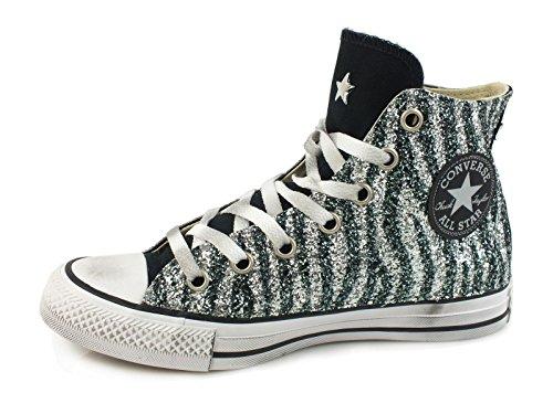 Converse - Zapatillas de Lona para mujer plateado plateado