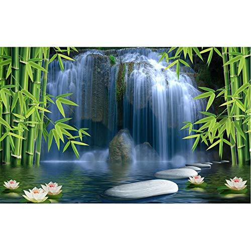 Amazhen Silk Mural 3D Wallpaper Custom Photo Mural Picture Wall Sticker 3 D Bamboo Spring Painting 3D Wall Room Murals Wallpaper,352cm250cm