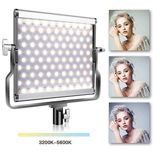- SAMTIAN LED Video Light Bi-Color Studio Lights Dimmable 200 Photography Lighting Kit with LCD Display, U Bracket for Video Professional Shooting, Studio Photography