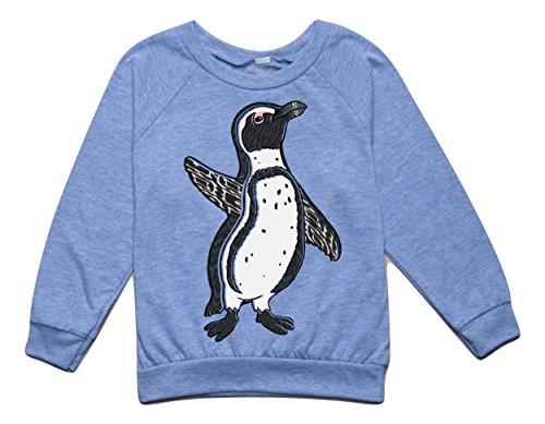 Wild Zebra Bodysuit Costumes (Peek A Zoo Toddler Longsleeve Become an Animal Pullover - Penguin Blue - 2T)
