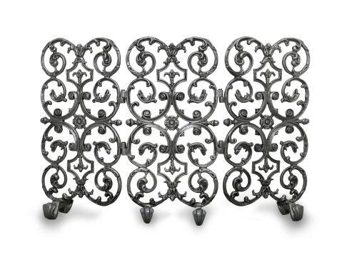 Avalon Fireplace - Ornamental Designs 3-Panel Avalon Fireplace Screen - Matte Black