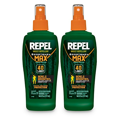 REPEL Sportsmen Max Insect Repellent Pump Spray, 6-oz, 2-PK (Jungle Formula)