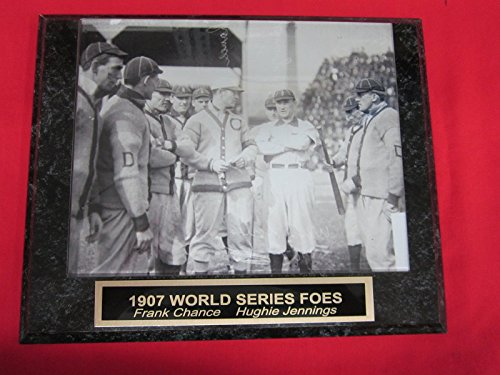 1907 Cubs Tigers World Series Match Up Collector Plaque w/8x10 Vintage Photo