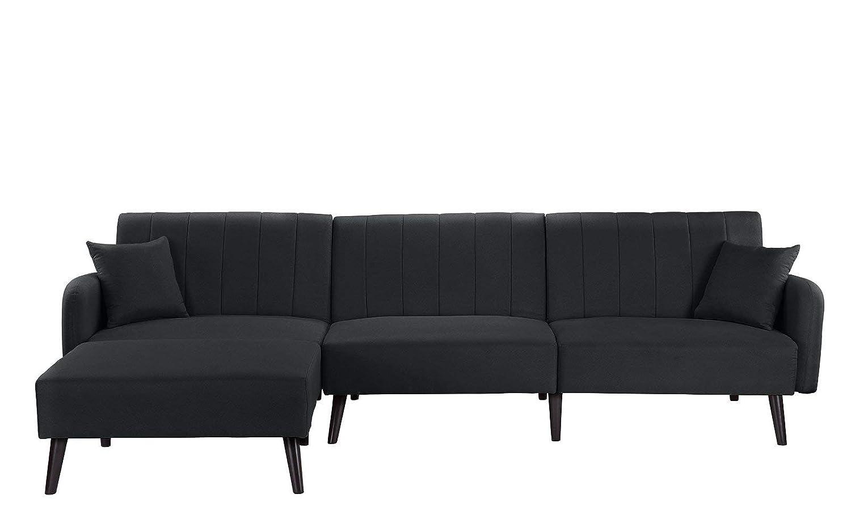 Julia - Sofá cama esquinero de 4 plazas, de tejido ...