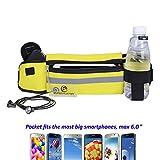 Cheap Flip Running Belt Adjustable, Fashion Fanny Pack with Bottle Holder, Water Resistant Reflective Zipper Waist Pack for Runners, Race, Marathon, Hiking – Men and Women