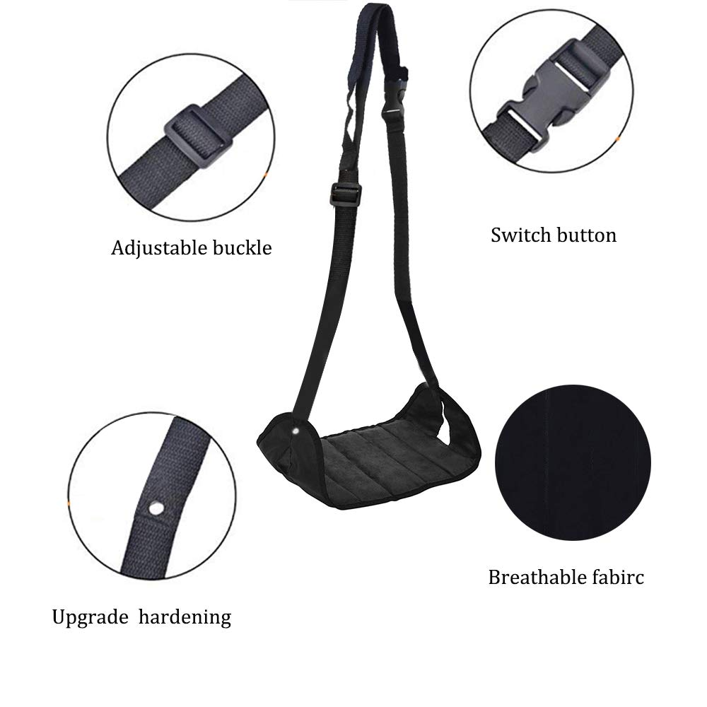 Ohderii Airplane Footrest - Travel Accessories - Portable Foot Rest Flight Carry-On Feet Rest Office Feet Rest Adjustable Under Desk Foot Hammock, Tested and Proven to Prevent Swelling and Soreness by ohderii (Image #2)