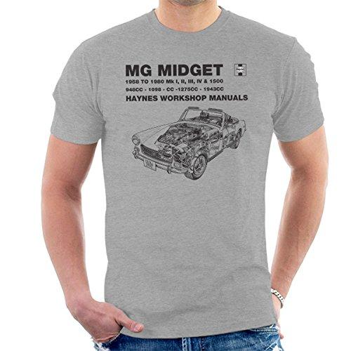 Haynes Owners Workshop Manual 0265 MG Midget 948 to 1275cc Black Men's T-Shirt