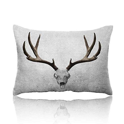 Anyangeight Antlers Pillowcase A Deer Skull Skeleton Head Bone Halloween Weathered Hunter Collection Travel Pillowcase 16