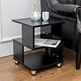 Indoor Multi-function Accent table Study Computer Desk Bedroom Living Room Modern Style End Table Sofa Side Table Coffee Table Three-Tiered Partition Coffee Table