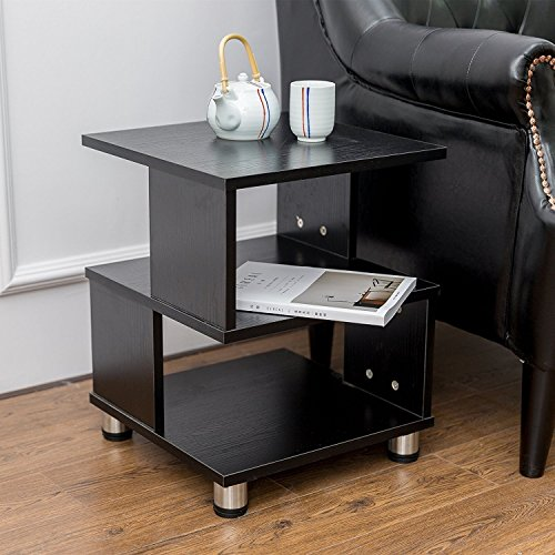 Indoor Multi-function Accent table Study Computer Desk Bedroom Living Room Modern Style End Table Sofa Side Table Coffee Table Three-Tiered Partition Coffee Table by DASII