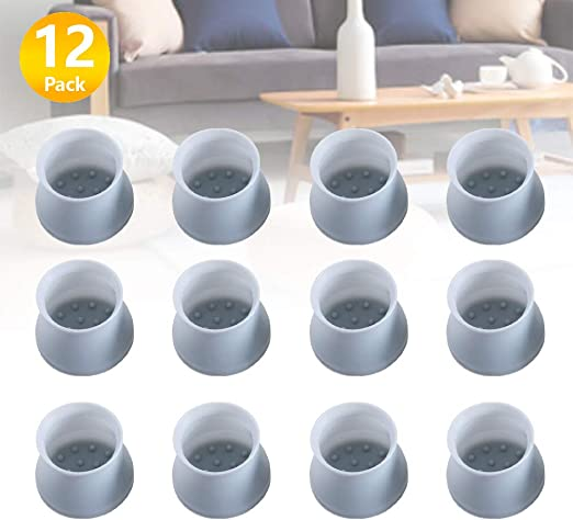 12PC Chair Table Feet Leg Caps Floor Anti Scratch Rubber Cap Anti Slip-Protector