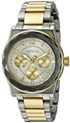 Invicta Women's 'Angel' Quartz Stainless Steel Casual Watch (Model: 22108)