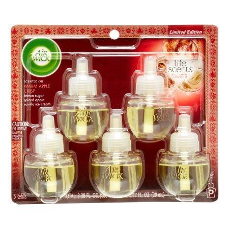AirWick Scented Oils, 5 Refills, Warm Apple Crisp Scent