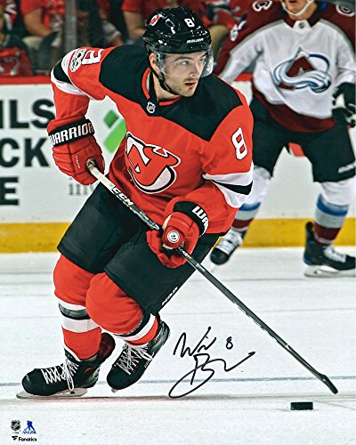 "Will Butcher New Jersey Devils Autographed 16"" x 20"" Skating With Puck Photograph - Fanatics Authentic Certified"