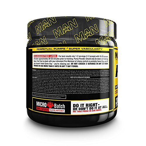 MAN Sports Pump Powder Stim Free Pre Workout Supplement