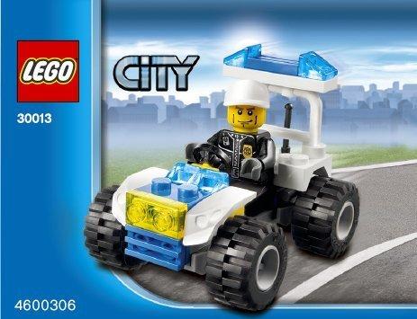 LEGO City Mini Figure Set #30013 Police City Quad (Lego City Mini Figure)