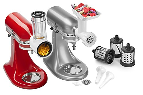 KitchenAid KSMGSSA Mixer Attachment Pack, White (Kitchenaid Grinders Meat)