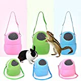Pet Carrier Bag Soft-Sided Carriers Hamster Portable Breathable Outgoing Bag for Small Pets,Medium-Blue