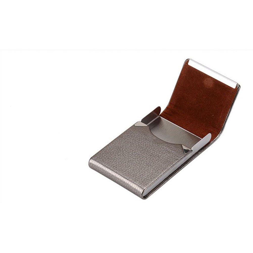elegantstunning Fashion elegante Business portasigarette unisex di fumo box Pocket storage light brown