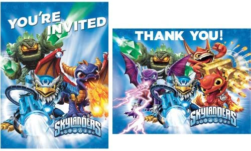 Amazon Skylanders Invite Thank You Note Cards 8 Each