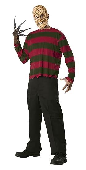 Pesadilla en Elm Street - Disfraz de Freddy Krueger, para adultos, talla única (