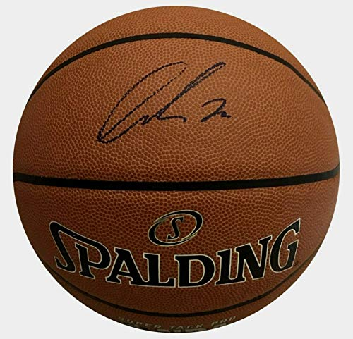 (Luka Doncic Dallas Mavericks Autographed NBA Leather Basketball. Signed private autograph session. PSA/DNA COA.)