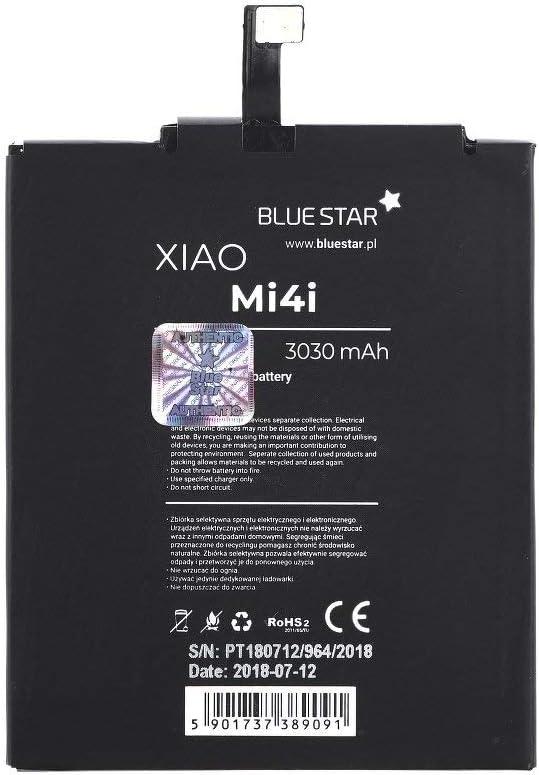 Blue Star Premium - Batería de Li-Ion litio 3000 mAh de Capacidad Carga Rapida 2.0 Compatible con el Xiaomi Mi 4i