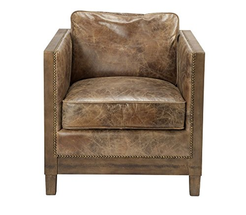 Darlington Club Chair Light Br Dimensions: 28''W x 31''D x 31.5''H Weight: 58 lbs by Moe's Home Collection