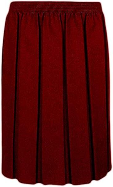 Adam & Eesa - Falda plisada para niñas de 2 a 16 años Rojo granate ...