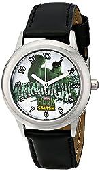Marvel Kids' W001641 Tween Hulk Smash  Analog Display Analog Quartz Black Watch