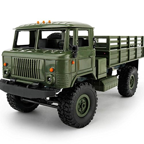 Price comparison product image For Christmas, Sunfei WPL B-24 1:16 4WD Large RC Military Truck Wireless Remote Control Car Toy (Green)