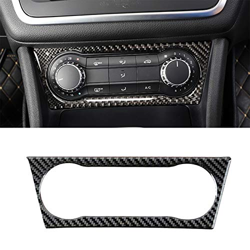 - Xotic Tech Real Carbon Fiber Sticker AC Panel Cover Frame Trim Decal for Mercedes Benz CLA GLA A108-1 Piece