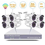 8CH Home Security Camera System H.265+ NVR kit Wireless Surveillance 8pcs Smart WiFi CCTV IP 1080P 2MP Night Vision Outdoor Video 2TB HDD Auto Pair (8CH1080P NVR+8pack1080P cam+2TB HDD) Review
