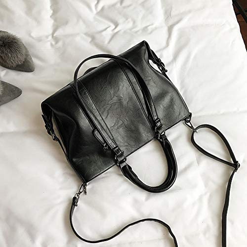 Solo Casual Black Gran Big Bolso Flybg Capacidad Lady Bag IwqtP