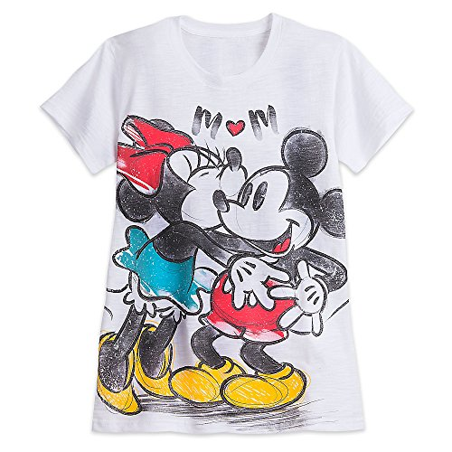 Disney-Mickey-and-Minnie-Mouse-Slub-Tee-for-Women-White