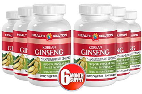 Red ginseng powder - KOREAN GINSENG - boost sexual energy (6 Bottles) by Health Solution Prime