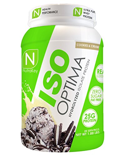 NutraKey ISO Optima Cookies & Cream Protein Supplements, 1.9-Pound