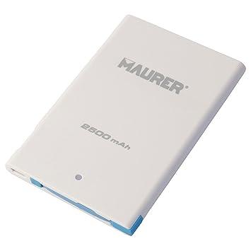 MAURER Cargador de batería portatil Universal, Metal, Talla ...