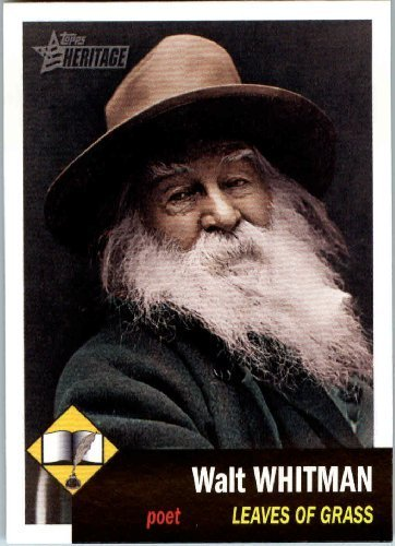2009 Topps American Heritage Baseball Cards # 7 Walt Whitman (Leaves of Grass)(Writer) Trading - Whitman Stores Walt