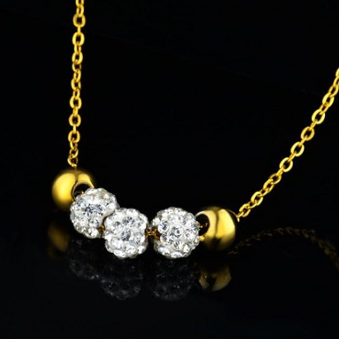 Collier pendant en perles de cristal et boucles doreilles 18CT Ensemble de bijoux plaqu/és or Bo/îte /à cadeau gratuite IzuBizu London