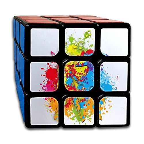 Dancing Girl Rubik's Cube Game Brain Training Game Match Puzzle Toy For Kids Or Adults Speed Cube Stickerless Magic Cube (Starfire Floor)