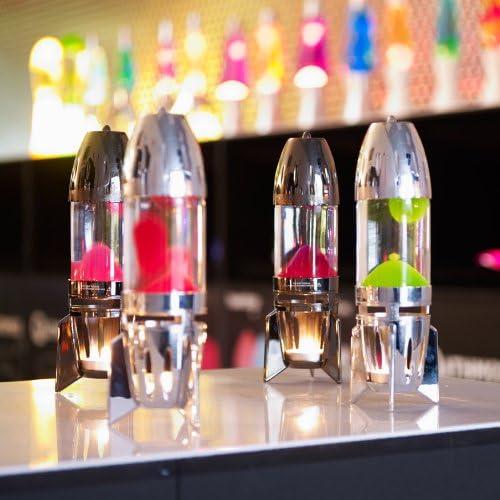 Pink//Blau /& Gelb//Orange Mathmos Fireflow R1 Lavalampen Paar mit Teelicht Chrome