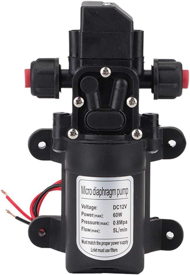 70PSI 12V Water Pump High Pressure Diaphragm Self Priming RV Caravan Garden UK